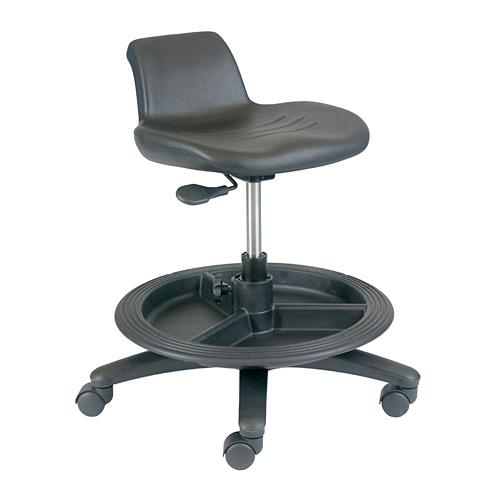 office master ws11 industrial shop stool with casters. Black Bedroom Furniture Sets. Home Design Ideas