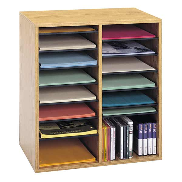 9422mo-1912wx2118hx1134d-oak-grain-16-compartments-literature-organizer