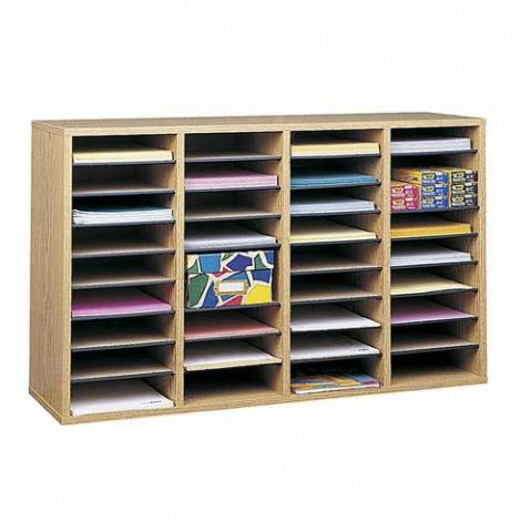 9424mo-3938wx24hx1134d-oak-grain-36-compartments-literature-organizer