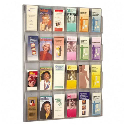 5601cl-30wx41hx2d-24-pamphlet-acrylic-literature-wall-rack