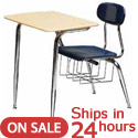 Click here for more Scholar Craft Solid Plastic Combo Desk - Quick Ship by Worthington