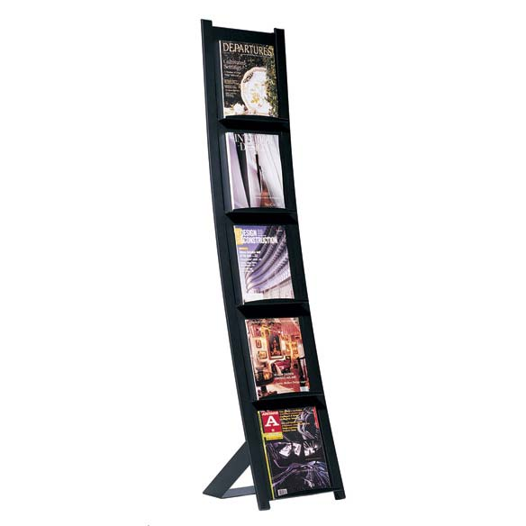 Magnuson group metal magazine rack for Magazine racks for home