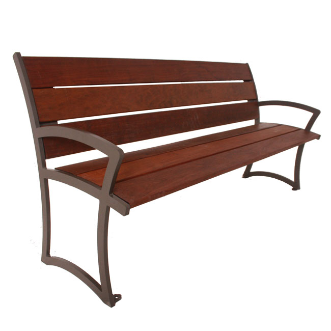 Sensational Madison Ipe Wood Outdoor Bench With Back 8 L Lamtechconsult Wood Chair Design Ideas Lamtechconsultcom