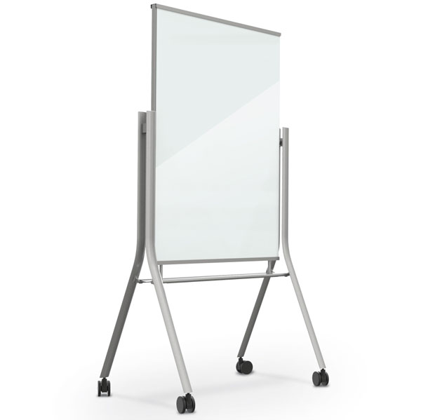 Best Rite Visionary Curve Mobile Magnetic Glass Whiteboard 74955 Glass Dry Erase Boards Worthington Direct