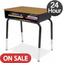 Click here for more Virco Quick Ship 785 Series Open Front Desk by Worthington