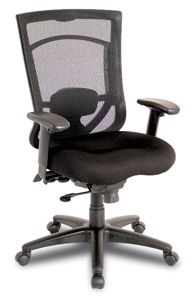 ndi office furniture mesh mid back executive chair w lumbar pillow