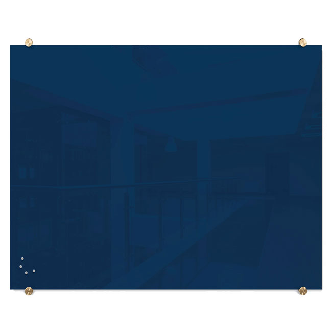 85720-visionary-navy-magnetic-glass-dry-erase-boards-with-brass-mounts-3-x-4