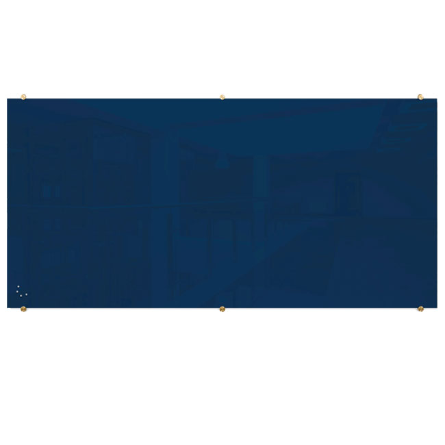 85722-visionary-navy-magnetic-glass-dry-erase-boards-with-brass-mounts-4-x-8