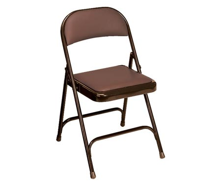 Virco Padded Seat And Back Folding Chair Mocha Brown Frame Mocha Brown Vinyl 168 Folding Chairs Worthington Direct