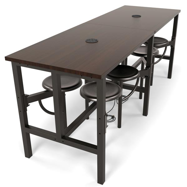 ofm endure standing height table with 8 seats 9008
