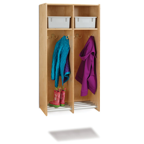 9134jc-hanging-wall-locker-with-tube-shoe-rack-2-sections-with-tubs