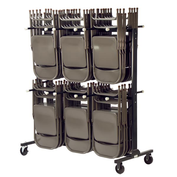 Virco Double Tier Chair Truck Hct6072 Folding Chair Caddies