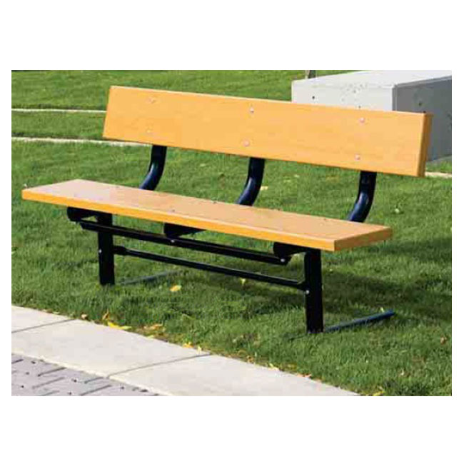 Miraculous Traditional Park Bench With Back 8 L X 10 Planks Ibusinesslaw Wood Chair Design Ideas Ibusinesslaworg
