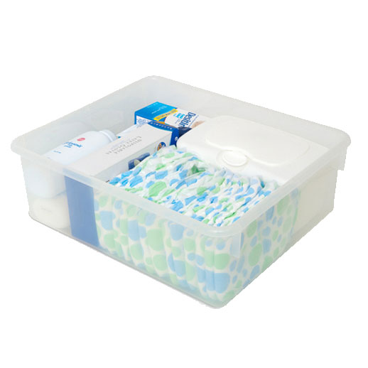 Foundations 9501196 Clear Plastic Storage Bins For Serenity Changing ...