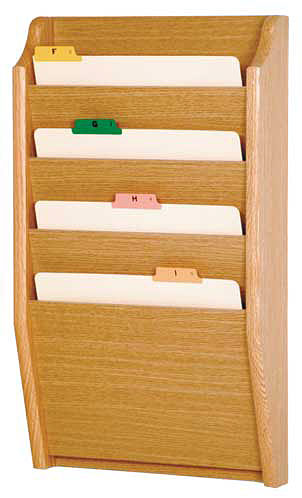 ch142-4-pocket-oak-wall-chart-holder