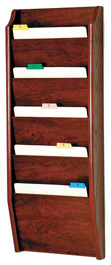 ch145-5-pocket-oak-wall-chart-holder
