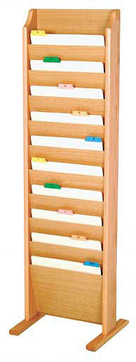 ch10fs-10-pocket-free-standing-oak-wall-chart-holder