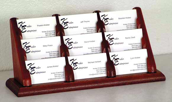 bcc39-9-pocket-oak-business-card-rack