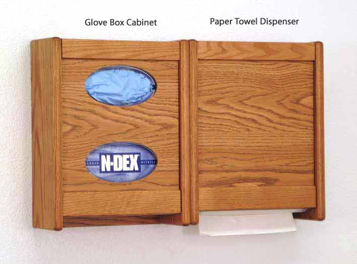 oak-towel-dispenser-glove-wall-cabinet-wooden-mallet