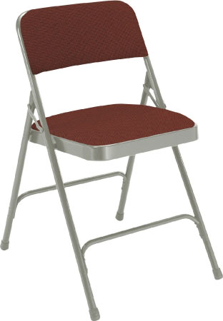 2208-cabernet-fabric-gray-frame-18-gauge-steel-padded-folding-chair-with-double-hinge