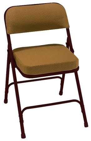 3219-gold-fabric-brown-frame-18-gauge-steel-2-box-seat-padded-folding-chair