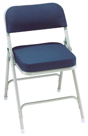 Upholstered virco folding chairs in padded seat - National Public Seating Padded Folding Chair Blue Fabric