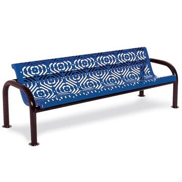 965-fb6-6-contour-outdoor-bench-with-back-fiesta-pattern