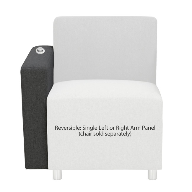Terrific Fuse Reception Seating Single Arm Panel W Usb Charging Port Evergreenethics Interior Chair Design Evergreenethicsorg