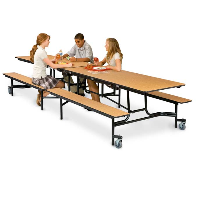 Mobile School Bench Cafeteria Tables By Midwest