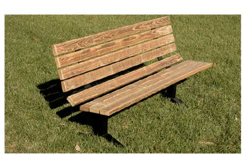 Magnificent Pressure Treated Wood Steel Outdoor Park Bench 6 L Gmtry Best Dining Table And Chair Ideas Images Gmtryco