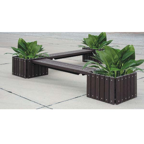 ... # 43391 - UltraPlay 993-6 Recycled Outdoor Bench With Three Planters