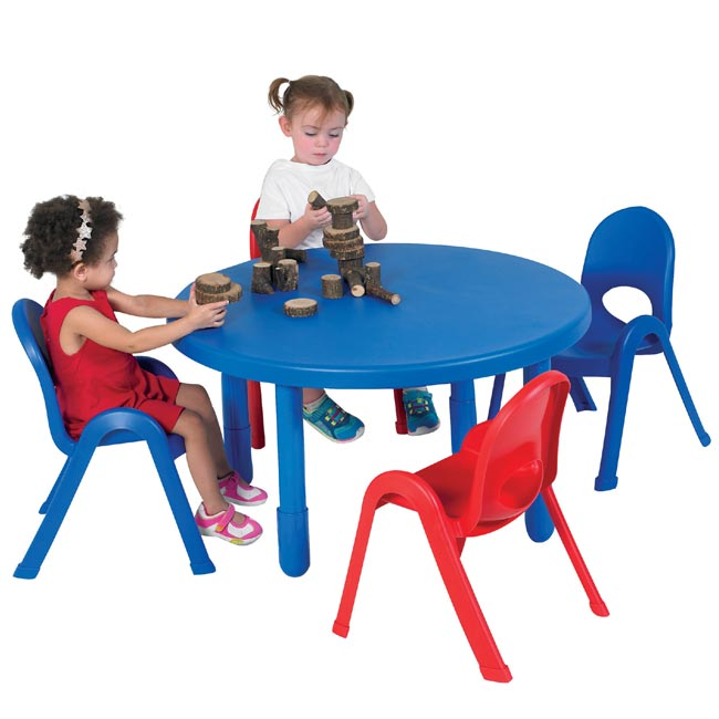 Swell Myvalue Toddler Plastic Table And Chairs Set 36 Round Interior Design Ideas Gresisoteloinfo