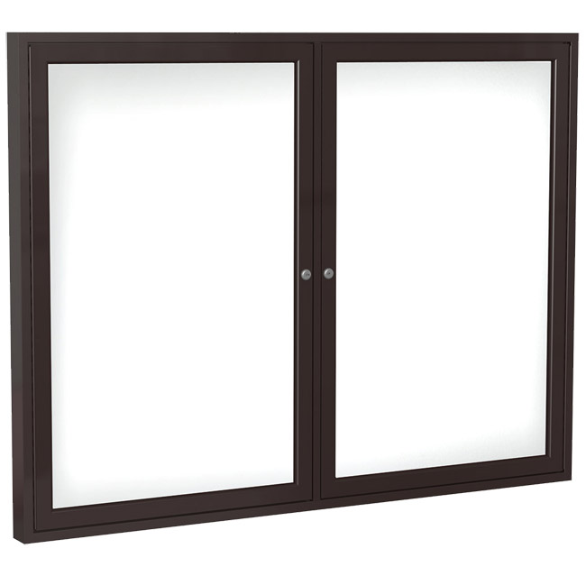 aluminum-frame-indoor-enclosed-whiteboard-36h-x-48w-2-doors-bronze