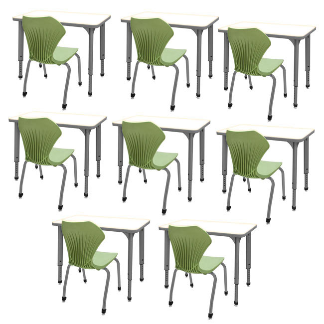 classroom-set-8-single-apex-dry-erase-desks-chairs-by-marco-group