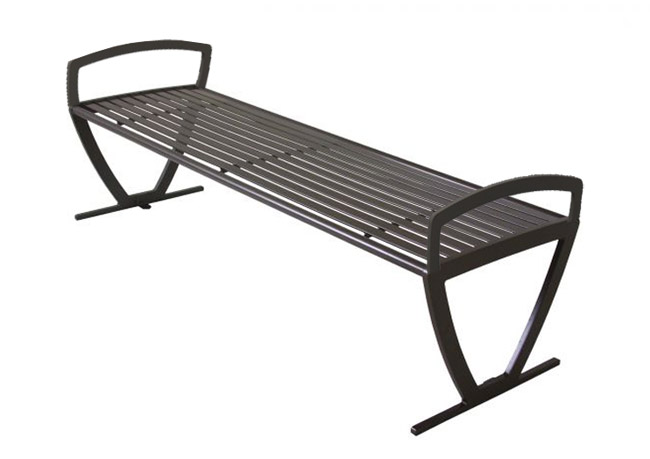 Admirable Augusta Outdoor Backless Bench W Side Arms Pabps2019 Chair Design Images Pabps2019Com
