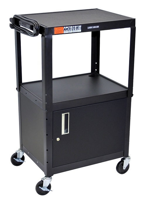 avj42c-adjustable-height-metal-cart-w-cabinet