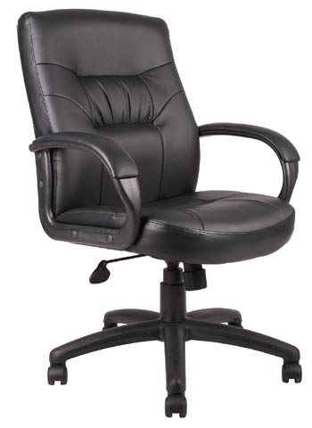 Boss 7500 Series Executive Mid Back Leather Chair B7506