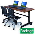Package Deal- Lumina Flip-Top Seminar Table & Training Chairs by Balt