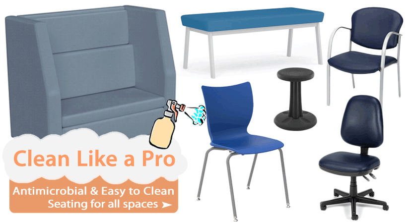 Shop Easy to Clean & Antimicrobial Chairs, Stools, Bench Seating