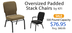 Padded Stack Chairs on Sale