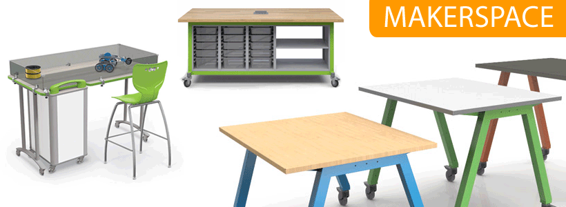 Shop Makerspace, STEM, PBL & Robotics Furniture!