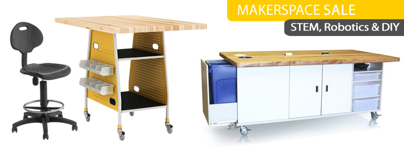 Makerspace Tables, Work Benches & Robotics STEM Furniture