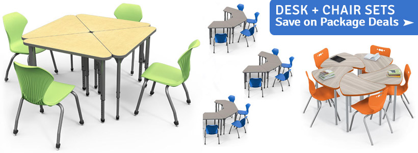 Shop Classroom Student Desk & Chair Sets!