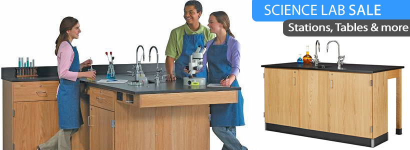 Science Lab Furniture from Stations to Tables, on Sale Now!