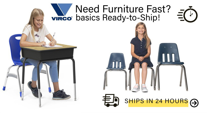 Virco Classroom Desk & Chair Furniture In Stock with Quick Shipping!