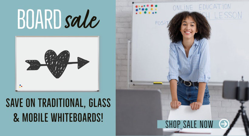 Whiteboard, Glass Board & Mobile Boards on Sale!