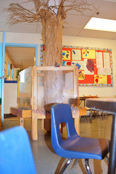 Classroom seating arrangement for preschool and daycare