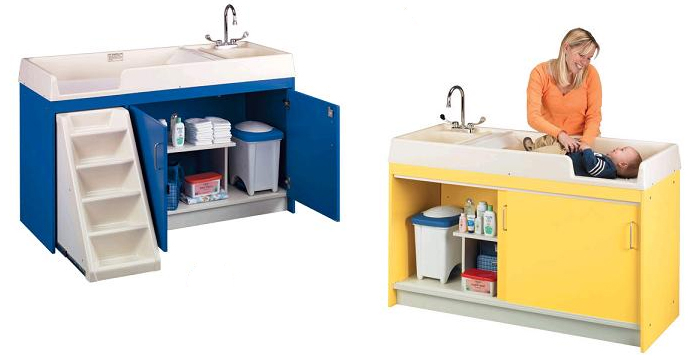 5 Great Freestanding Changing Tables For Daycare Centers