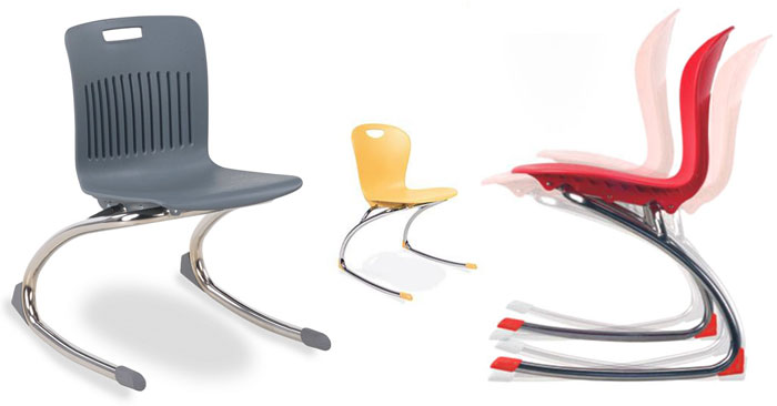 Virco Zuma and Analogy Rocker Chairs for Active Seating