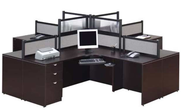 4 Person Workcenter Office Suite